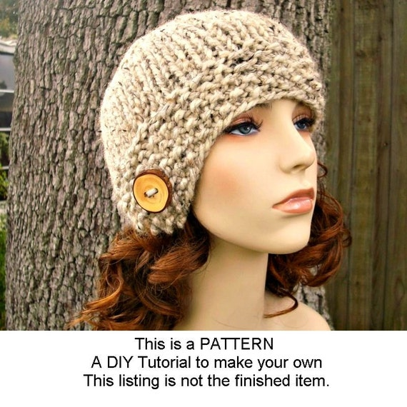 7b5a1403cb3 ... Instant Download Knitting Pattern - Womens Hat Pattern - Knit Hat  Pattern Chunky Cloche Hat -