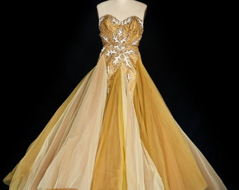 1950's celebrity vintage gown Josephine Baker designer