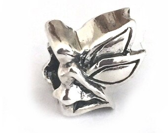 Fairy with Wings Sterling Silver Large Hole Bead for Bracelets