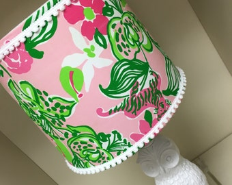 Lilly Pulitzer Lampshade in Tiger Lilly Lamp shade only!!