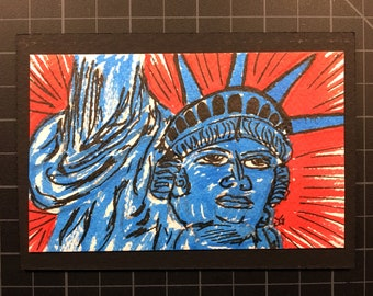 Statue of Liberty, Statue of Liberty Art, New York, New York City, NYC, 4th of July, Memorial Day, Lady Liberty, Artsnacks, Ellis Island