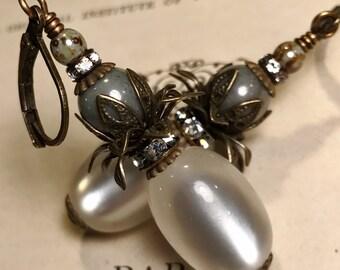 Kamala Earrings in White