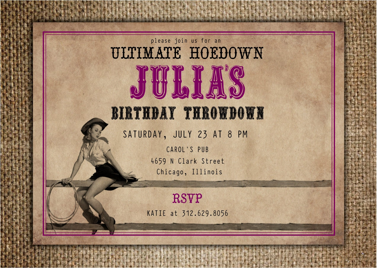 Hoedown Party Invitation : Birthday/Hen\'s