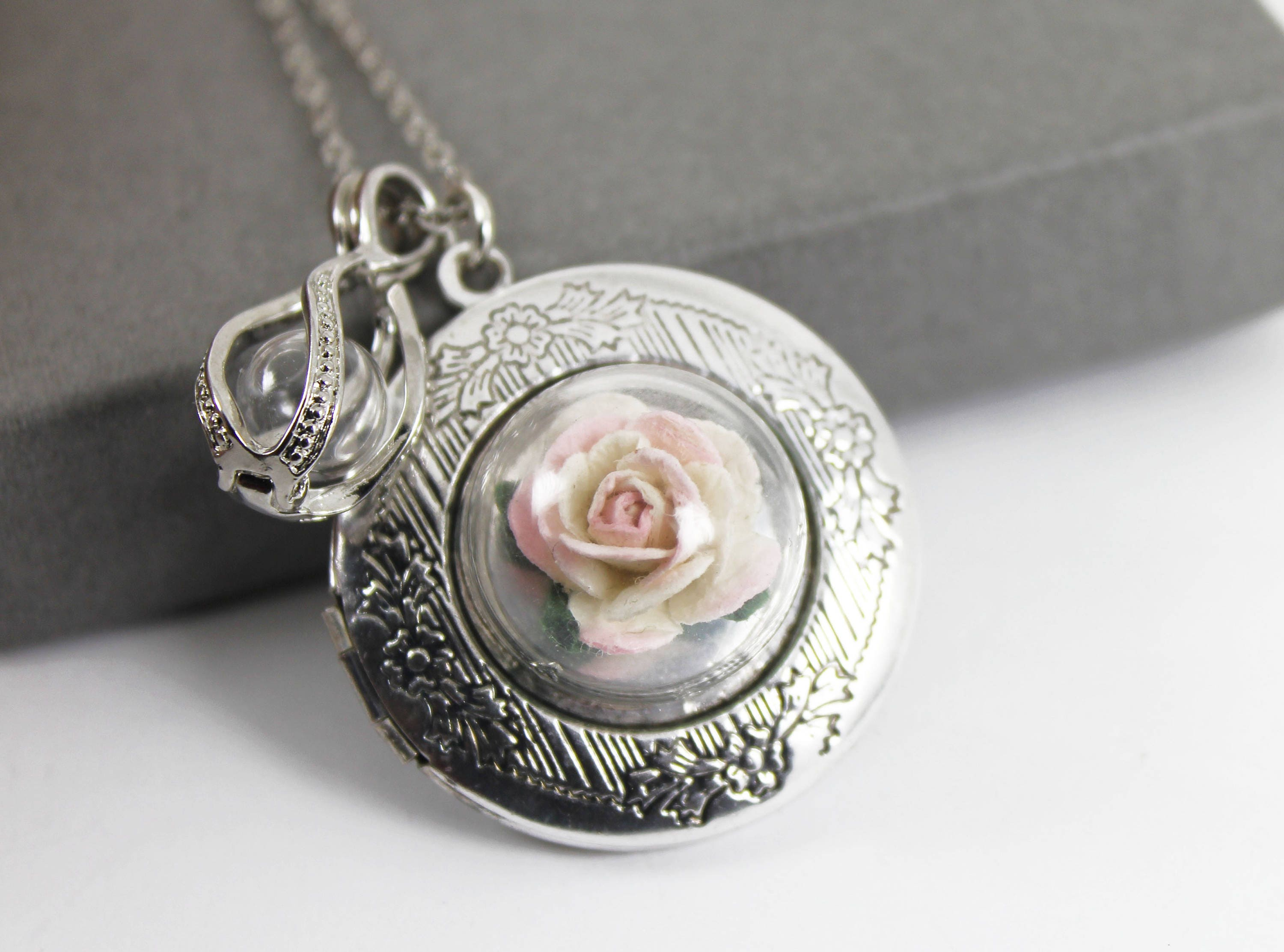 dk en necklace elephant memorial locket lockets antique anxh listing il fullxfull zoom