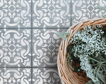 GRACIA - Portuguese Tile Stencil - Spanish Tile Stencil