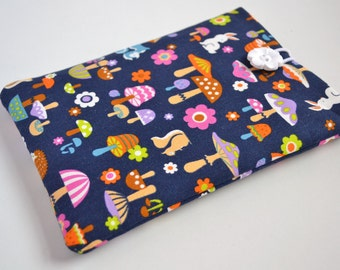 Woodland Characters on Navy Kindle Sleeve, Kindle Cover, Kindle Case