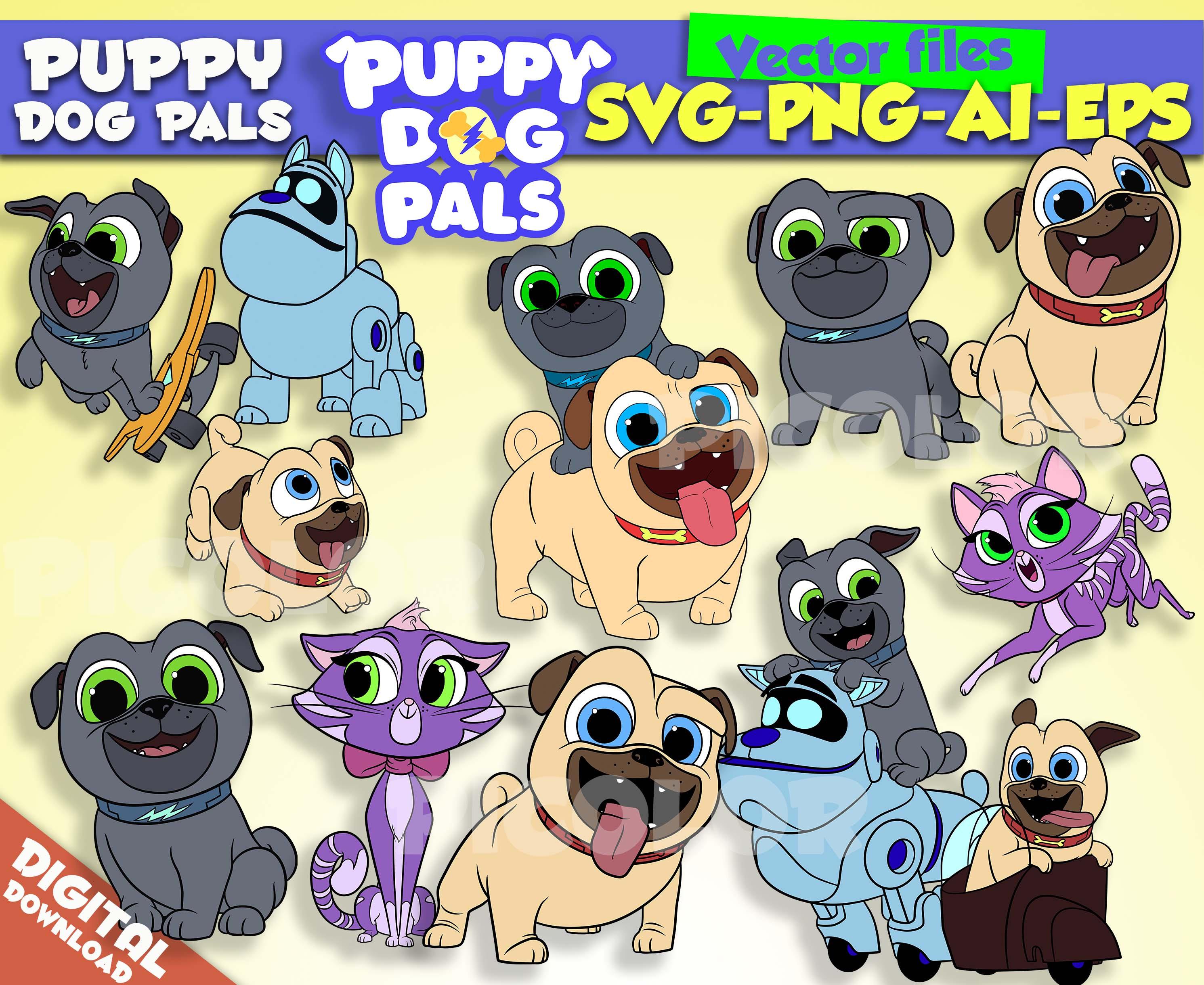 Puppy Dog Pals svg Rolly Bingo Hissy A.R.F. clipart Puppy Dog