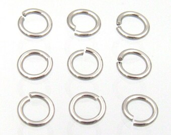 100 PC. Stainless Steel Jump Rings Perfect Cut Jumprings Findings for Jewelry Making, Your Choice of Sizes 4-13mm Gauges 16, 18, 20