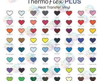 ThermoFlex Plus HTV Color Chart, Digital Download,  Heat Transfer Vinyl Color Chart, Shirt Vinyl Business Color Chart, PNG and PDF file