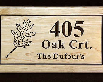 Family Name and House Number Engraved Plaque, Housewarming Gift, Open House, Realtor, Address Sign, House Number, Outdoor Sign, Carved