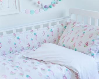 Baby Bedding, Girl Bedding, Crib Bedding, Girl Crib Bedding, Kids Bedding, Toddler Bedding, Girl Duvet Cover, Duvet Cover, Baby Shower Gift