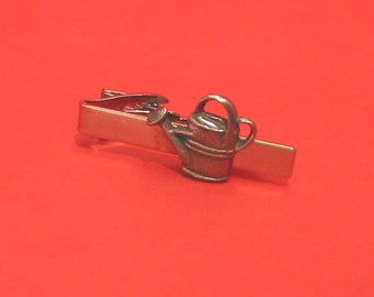 Watering Can Design Pewter Tie Clip with Gift Father Gardening Gift