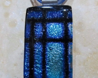 Fused glass pendant: Dichroic Window