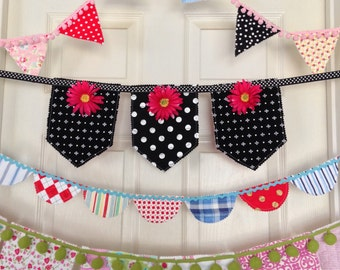 PDF Quilted Bunting/Banner Pattern Adorable for Birthdays, Parties, Celebrations, Holidays