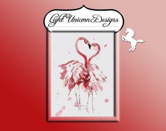 Flamingo 3 Stitch Pattern Instant Download