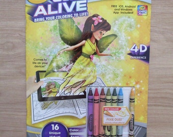 Enchanted Forest Coloring Book Crayola Color Alive~Fairy~Unicorn