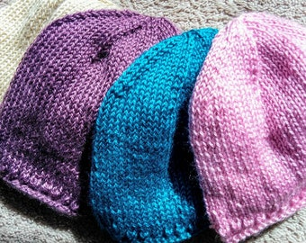 Hand Knit Womans Chemo Cap