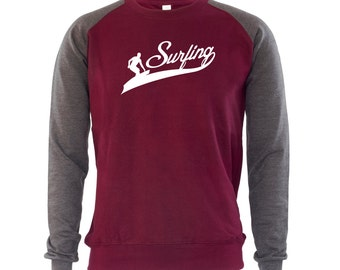 Surfing Men's Jumper Summer Beach Waves Holidays Vacation Top Surfer Surf Sport