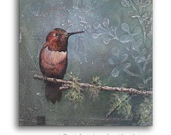 Hummingbird Art, Hummingbird Decor, Hummingbird Painting, Hummingbird Gift, Hummingbird Sign, Bird Art, Hummingbird Art Painting, Original