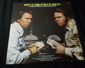 "Roy Clark & Buck Trent - A Pair Of Fives (Banjos, That Is) - DOSD 2015 - 12"" vinyl lp, album (ABC/Dot Records,1977) 70s Country music"
