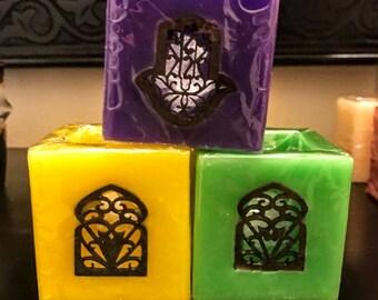 Set 3  Candles Morocco( holder)