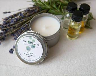 Soy and Essential Oil Candle with Ginger, Lemon, and Pine - 4 oz.