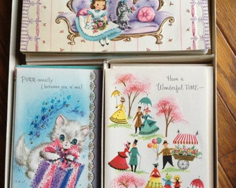 All Occasion Vintage Card Assortment, Complete New Old Stock FREE US SHIP