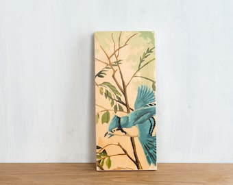 Paint by Number Art Block 'Blue Jay' - bird, branches, vintage art