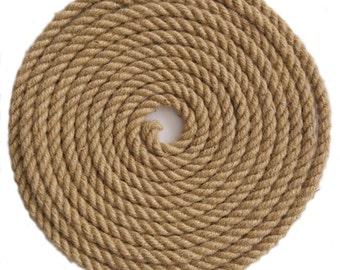 12 mm Diameter Natural Jute Hessian Rope for Art, Craft, DIY, 10-50m