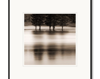 Yellowstone river, wyoming, photography, black and white, sepia warm tone, framed photo by Adrian Davis, limited edition fine art photograph