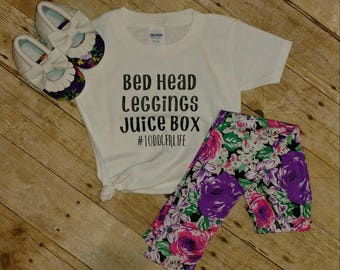 Toddler Life Tshirt and Floral Leggings