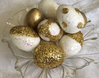Sofreh Aghd - sofreh aghd egg- 10 Gold and white egg- Persian wedding