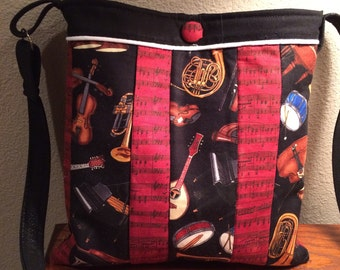 Unique Music Themed Shoulder Bag