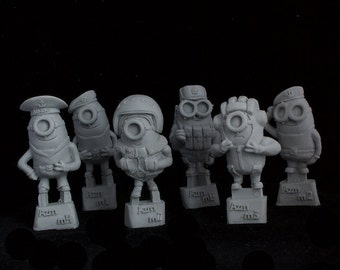 Minions Soviet Forces  6 in 1 Pack Resin figures – 1 free figure