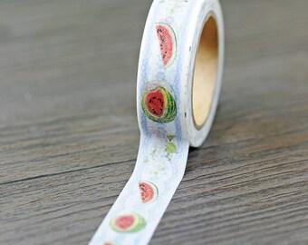 Watermelon Washi Tape - 15mm x 10 Meters - #SW120