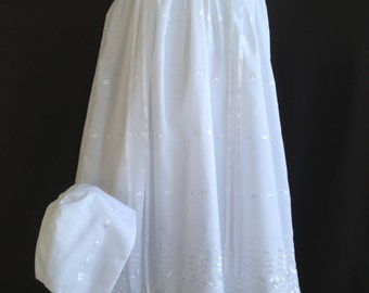 Patricia Christening Gown made of soft embroidered pure cotton and fully lined