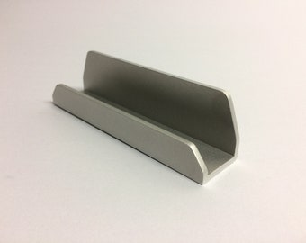 Business card stand etsy silver business card holder for desk modern decorative office accessories colourmoves