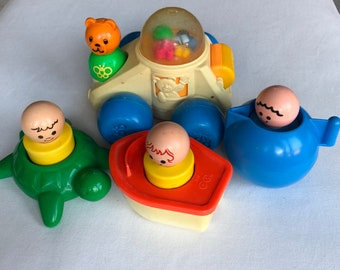 Fisher Price Poppity Pop Car and Floating Family