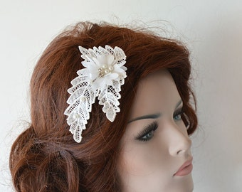 Ivory  Lace Bridal Hair Comb, Wedding Comb, Bridal Comb, Wedding Headband, Bridal Hair Accessory, Wedding Hair Accessories