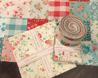 """ELM PARK by Camelot Fabrics - 10"""" layer cake, Laura Ashley, retro fabric, modern fabric, layer cake, charm pack, jelly roll, precuts, floral"""