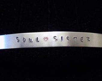 Soul Sister Metal Stamped Cuff