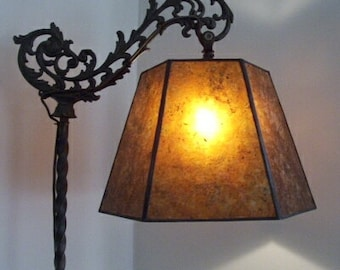 Mica lamp shade etsy vintage antique replacement mica shade for your bridge floor lamp base by nym arts aloadofball Images