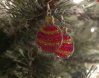 Weihnachten Christbaumkugel Ohrringe