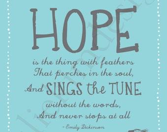 PRINTABLE Hope PDF 8x10
