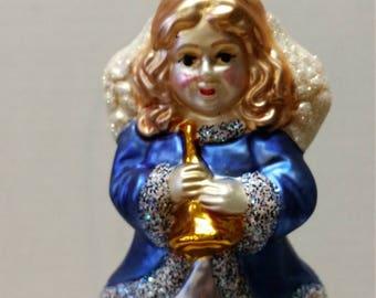 Inge-glas Victorian Style Heirloom Angel Ornament