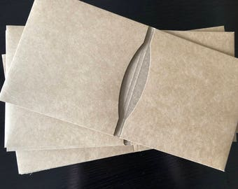 20 Double Sided Kraft Brown Blank CD Covers Wedding