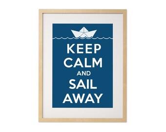 Fine art print · Keep calm and sail away · DIN A4