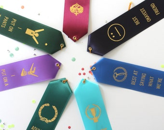The BIG Party Pack - Set of 7 Adult Award Ribbons - Adulting Awards / novelty gifts / humor / Funny Awards