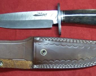 Custom handmade Damascus steel Fargo style Bowie knife