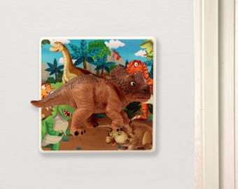 Dinosaur Bedroom Light Switch - Children's Lighting - Dinosaur Bedroom Decor -Dinosaur Decor - Dinosaur Nursery - Dinosaur Gift - Dinosaur